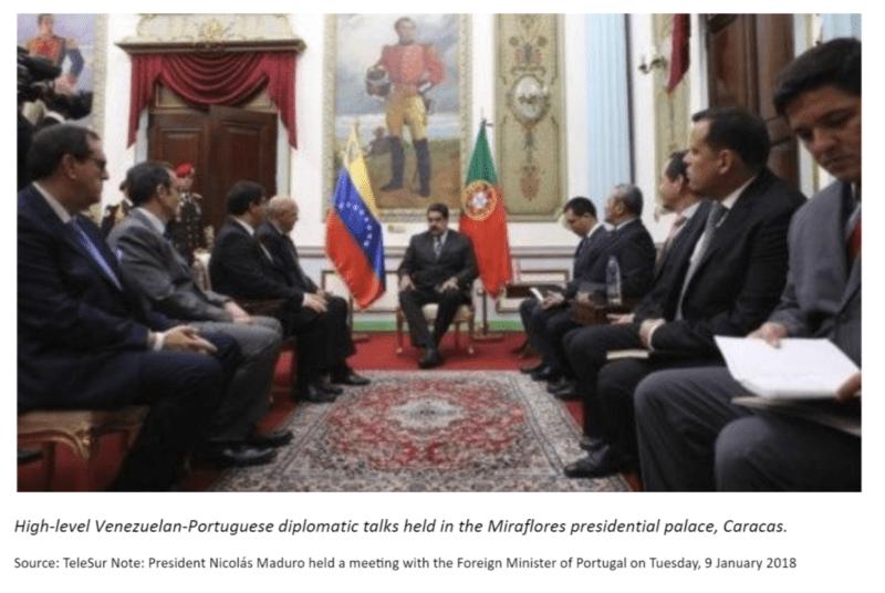 Caracas talks venezuela portugal