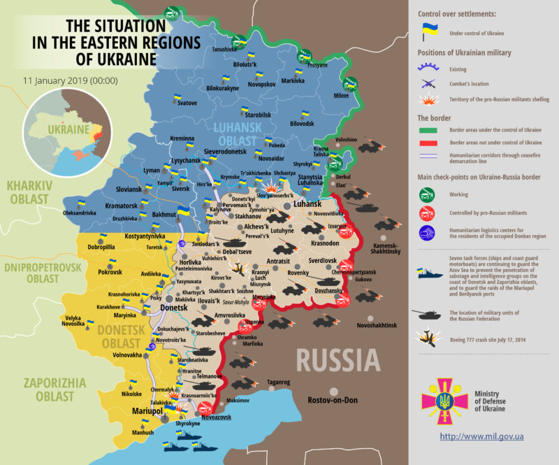 Map of ukraine conflict
