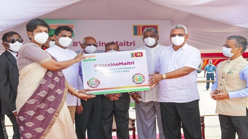 https://apnews.com/article/sri-lanka-india-coronavirus-pandemic-colombo-coronavirus-vaccine-e48e5de02fec9a91f929cbfd0355a3a1 Click to copy RELATED TOPICS Sri Lanka India Coronavirus pandemic Colombo Coronavirus vaccine Asia Pacific India donates first 500,000 doses of vaccine to Sri Lanka