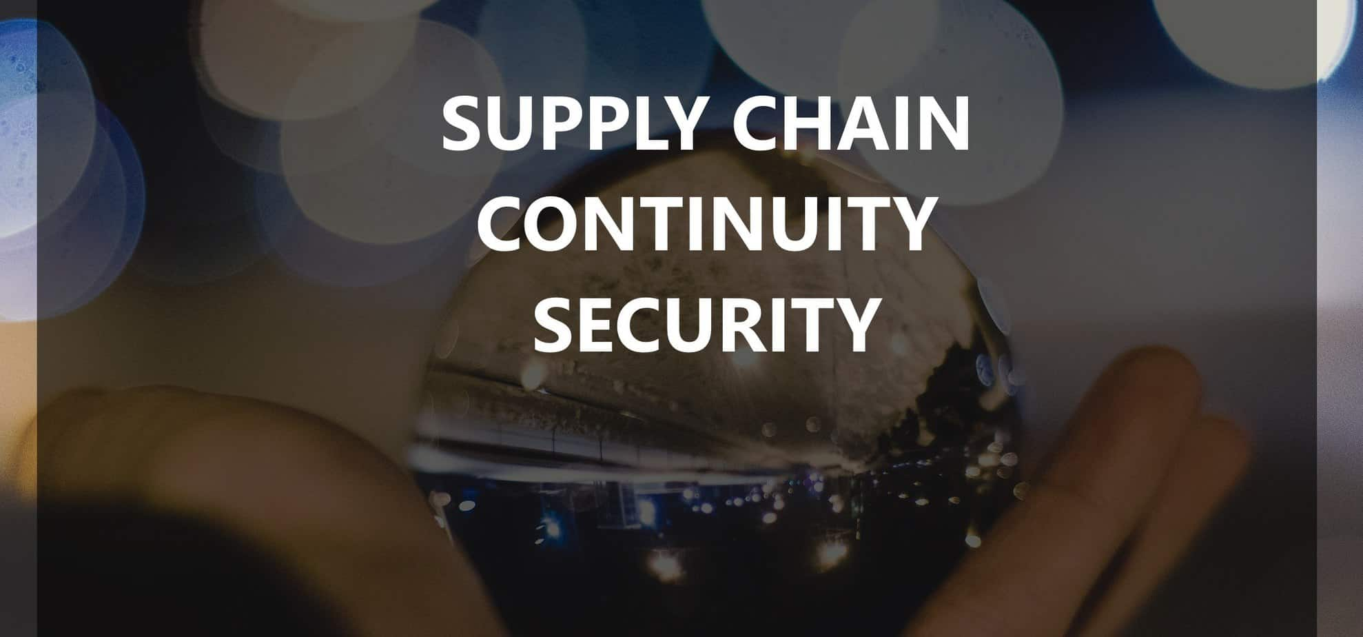 Supply chain security