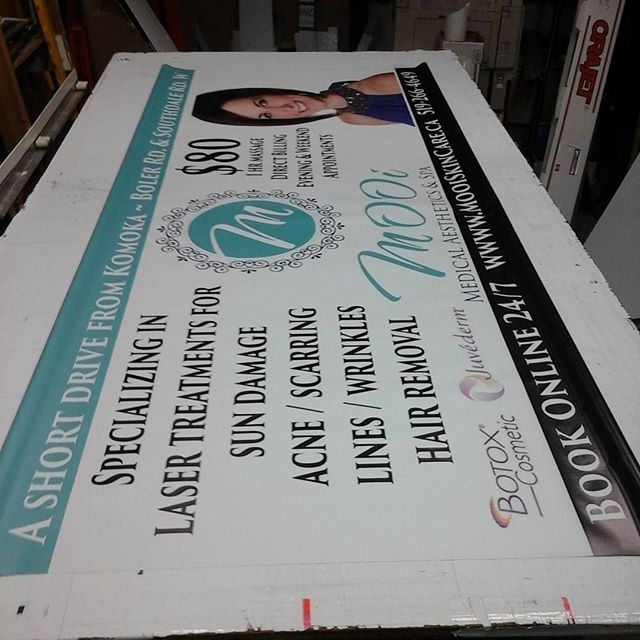 3' x 7' banner with pole pockets