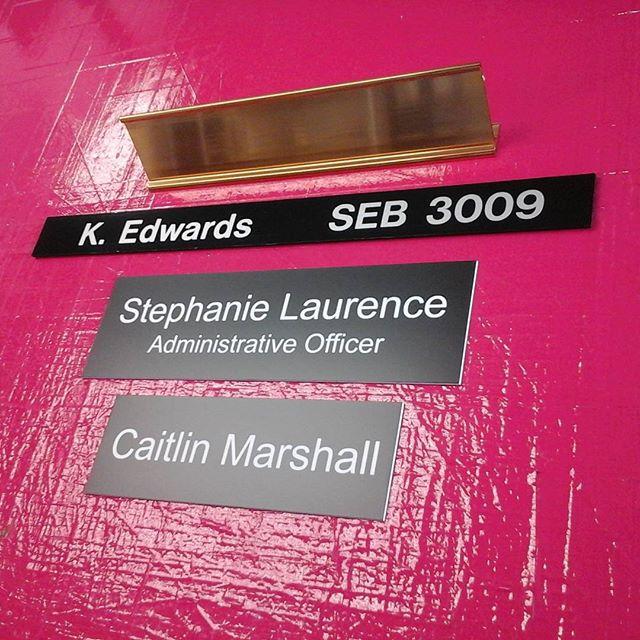 Holder, Slider & Nameplates