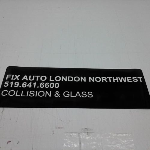 "9"" x 26"" vehicle magnetic, vinyl letters"