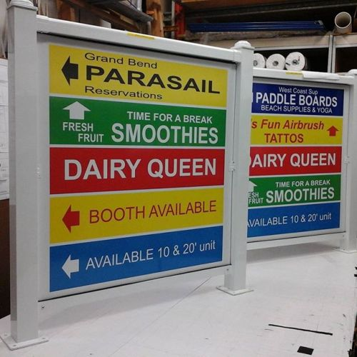 Digital prints on alumapanel in frames