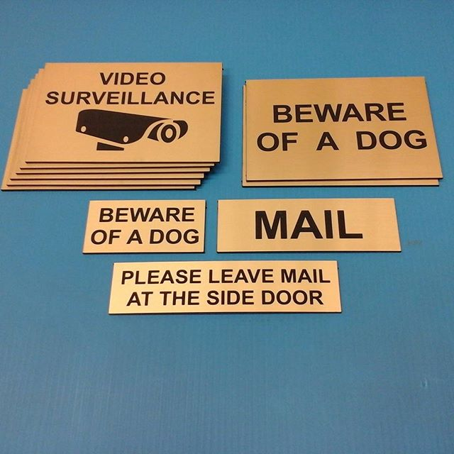 Lasered engraved signs