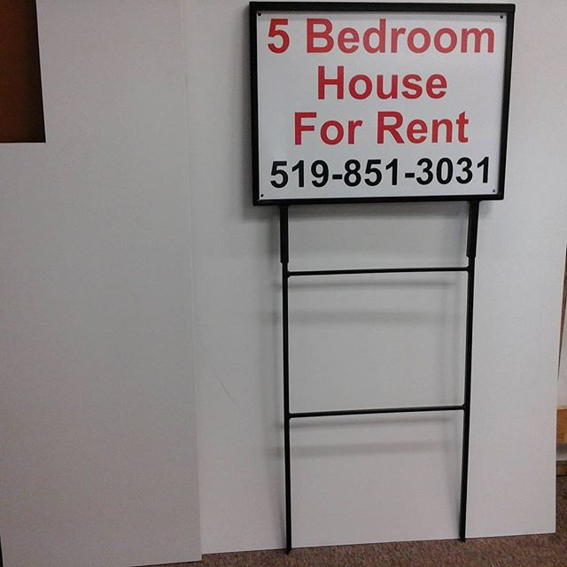 Sign & 2 piece H-frame