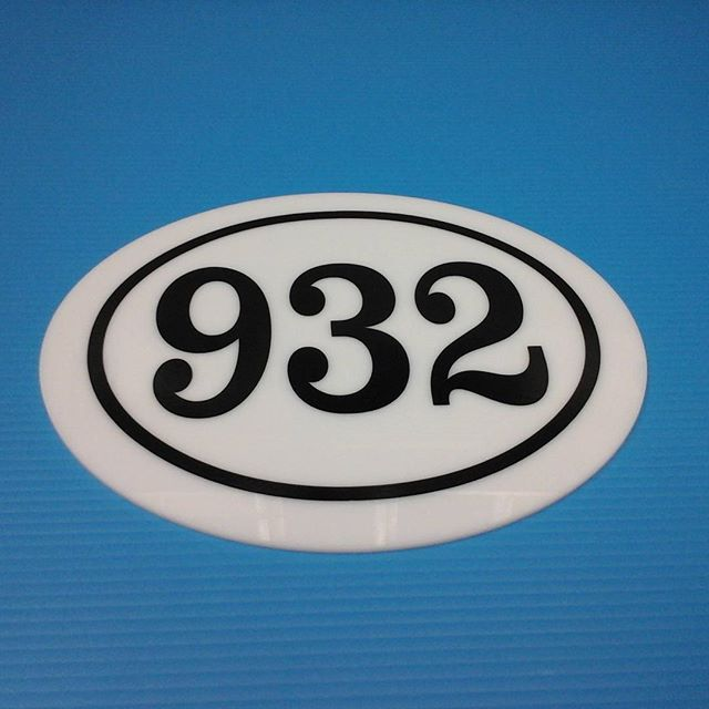 House plaque, vinyl on signwhite