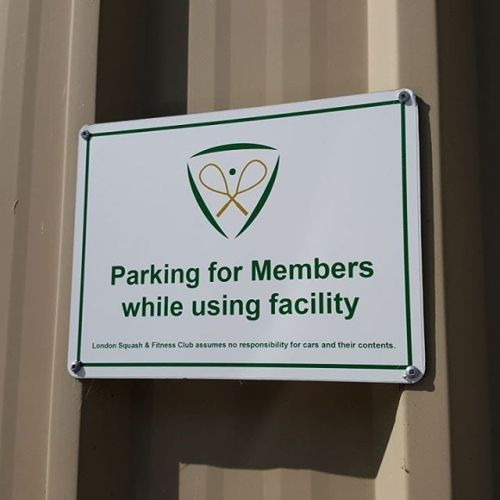 Aluma Parking Sign