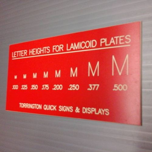 Lamacoid Letter Heights