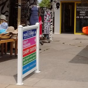 Shopping and business district Pedestal sign pack. and directories present a unified colourful experience that inspires shopping and participation