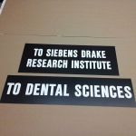 Western University, lasered door signs