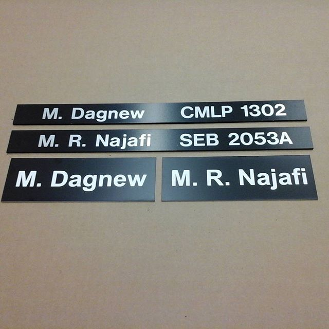 Western University, directory sliders & lasered nameplates