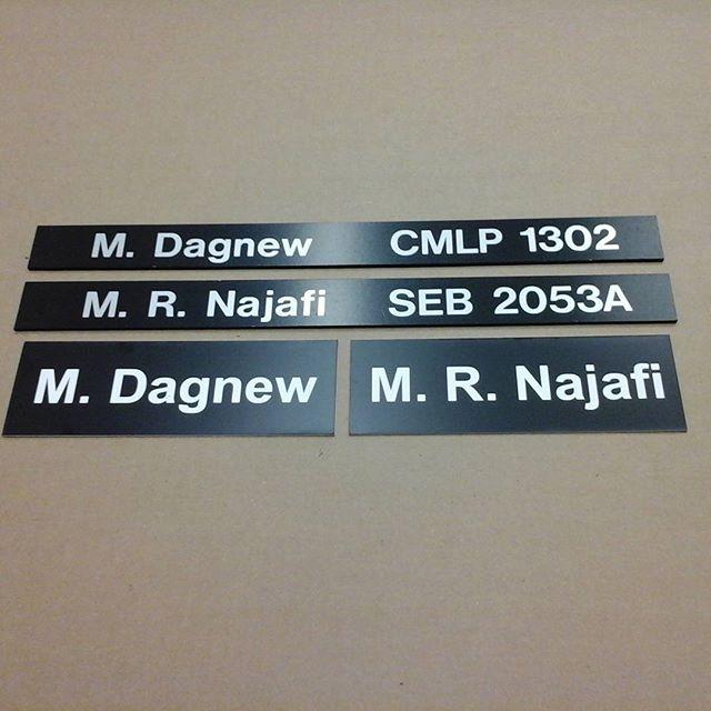 Western University, directory sliders & lasered nameplates
