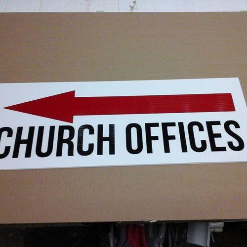 West Park Church, vinyl on coroplast
