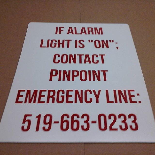 PinPoint Prop. Mgmt., vinyl on alumapanel