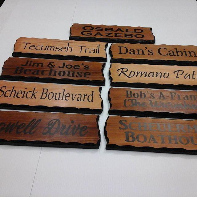 wood signs vinyl lettering
