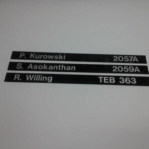UWO vinyl directory sliders
