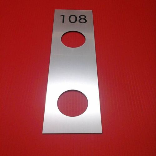 Lasered door plate