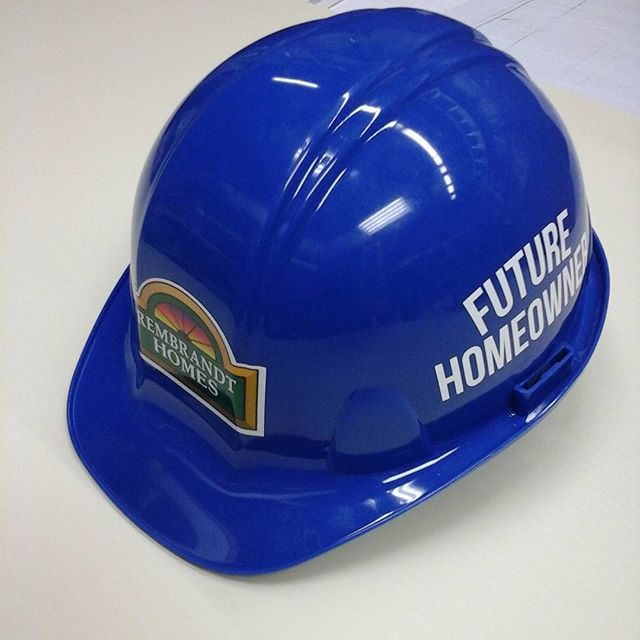 Rembrandt Homes, hard hat decals
