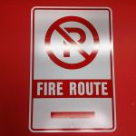 Fire Route Sign