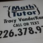 Math Tutor Signage