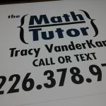 Math Tutor Sign