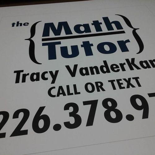 Math Tutor Sign