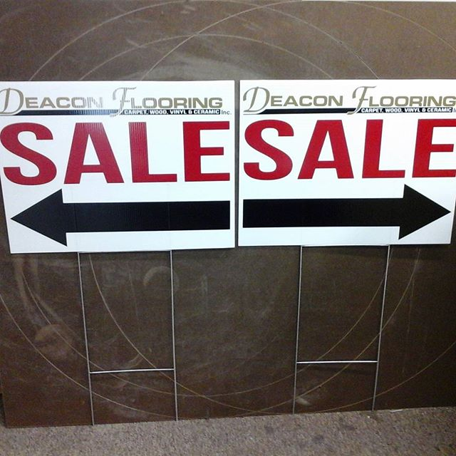 Deacon Flooring signs & H-wires