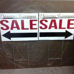 Deacon Flooring signs & H-wires