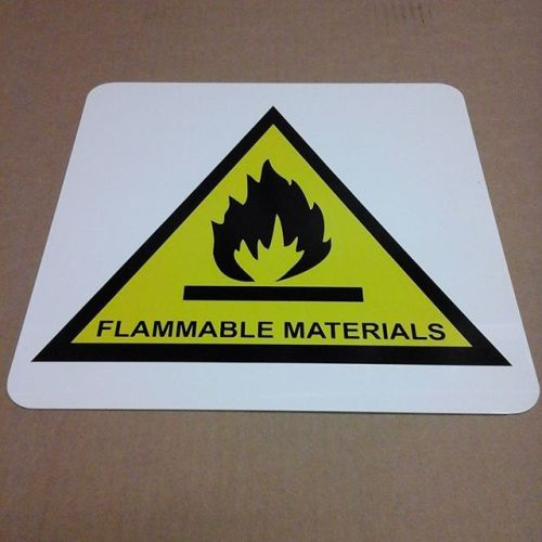 Flammable Warning sign, vinyl on aluminum
