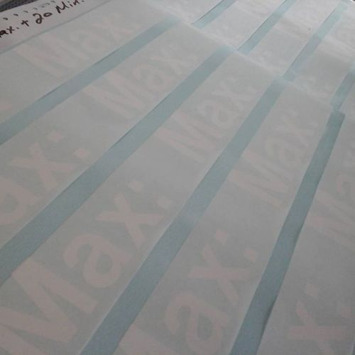 White Vinyl Cut