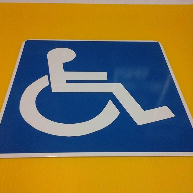 Handicap sign, aluminum