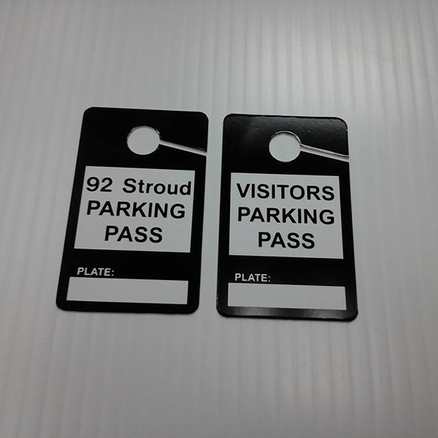 Car mirror parking tags