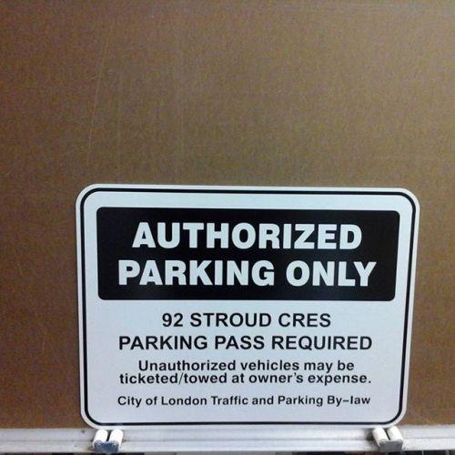 Reflective aluminum, Authorized Parking