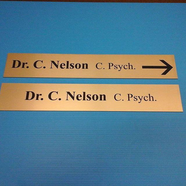 Directory & Door lasered signs