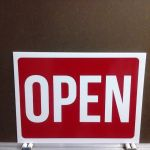 Open/Closed sign, 2-sided
