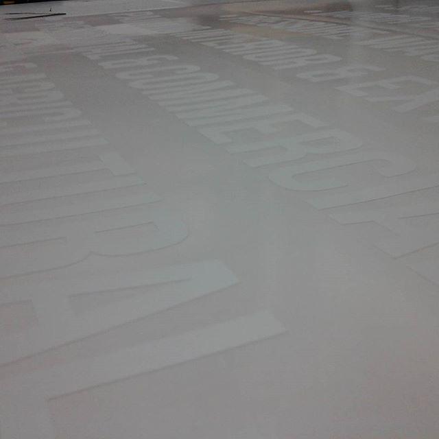Vinyl Cut Lettering