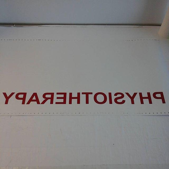 Reverse cut lettering