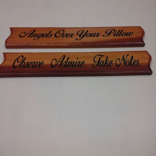 Wood signs / vinyl letters