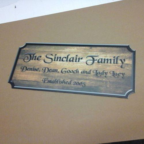 Wood Print Sign