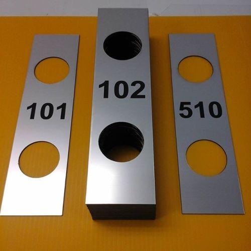 Laser door plates