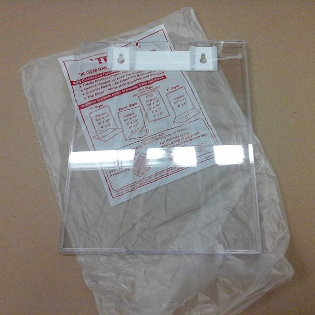Clear Plastic Sheet Holder