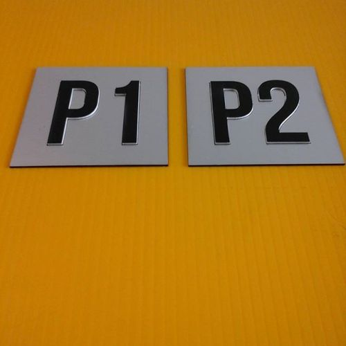 Laser door plates - raised lettering