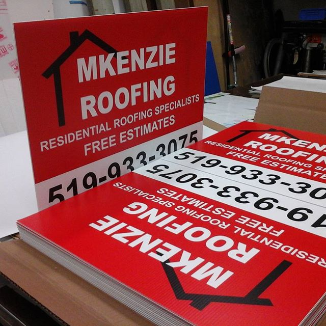 Roofing Signs