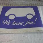 Vinyl stencil