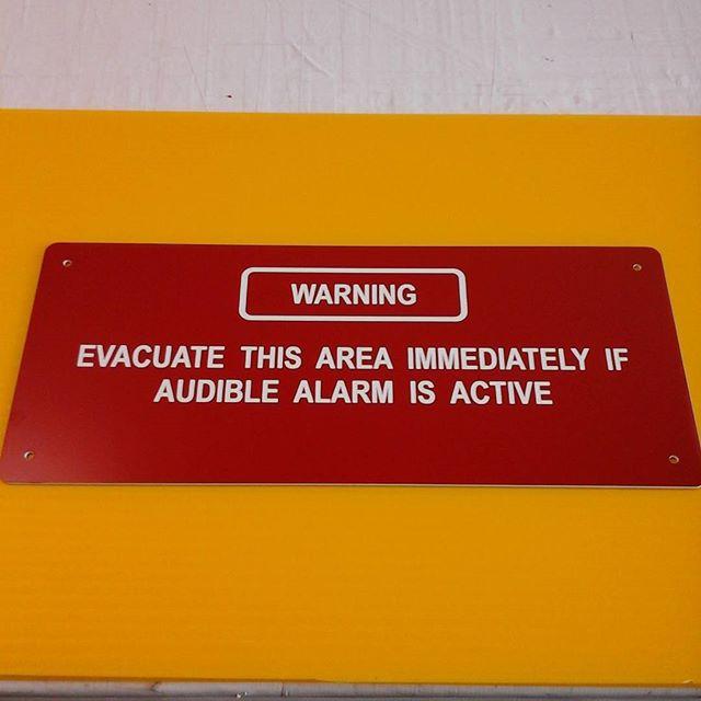 Laser door sign