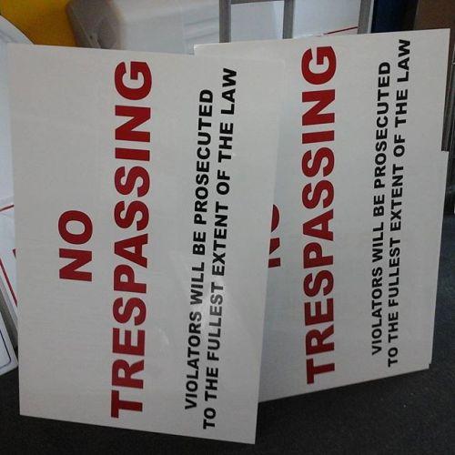 No Trespassing Signs