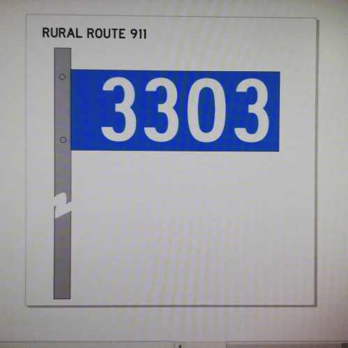 Rural 911 address