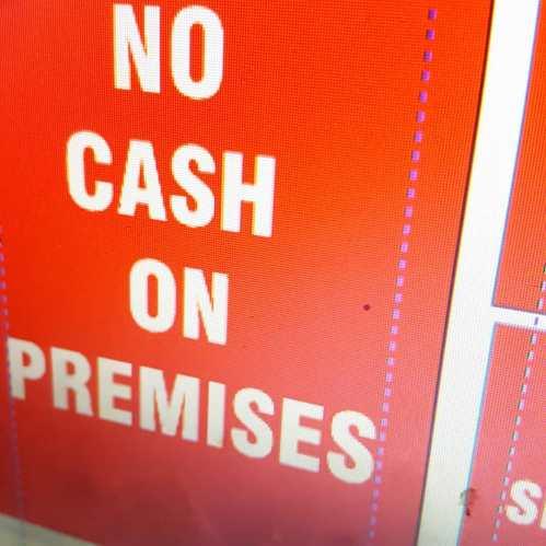 No Cash Signs