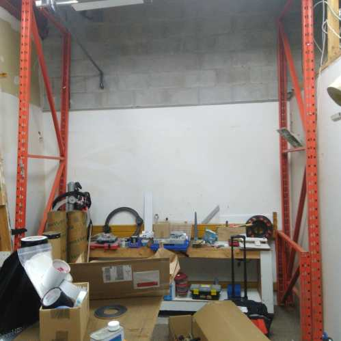 11 ft. Rack 2 shelf frame for 4X8 ft. Shelves plus two 3 ft rack ends. For sale $15O today, 519 473-4084